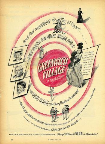 Greenwich Village Vintage Ad