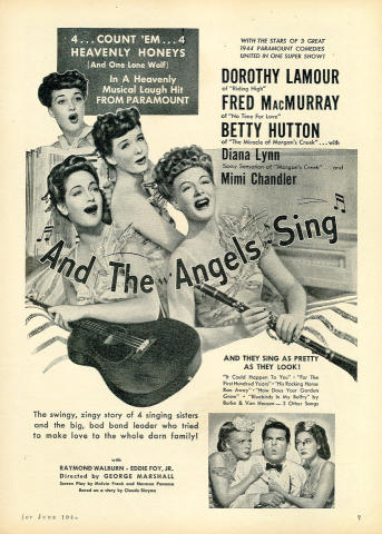 And The Angels Sing Vintage Ad