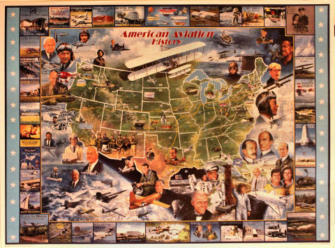 American Aviation History Poster