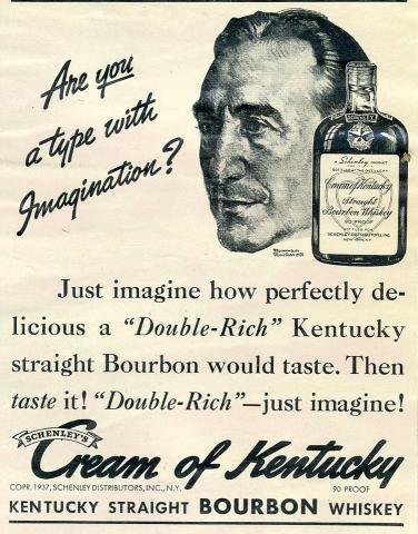 Schenley's Cream Of Kentucky Bourbon Vintage Ad