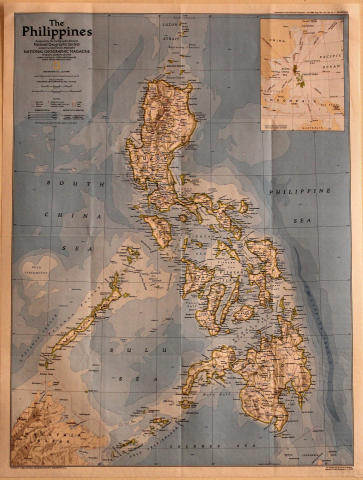 National Geographic: Map Of The Philippines Poster