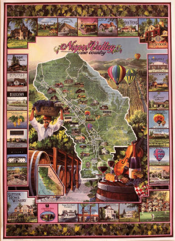 Napa Valley Wine Country Poster