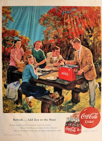 Coca-Cola: Refresh...Add Zest To The Hour Vintage Ad
