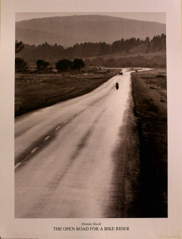 The Open Road for a Bike Rider Poster