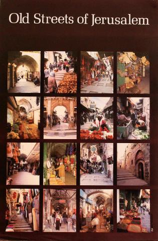 Old Streets of Jerusalem Poster
