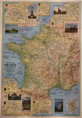 National Geographic: A Traveler's Map of France Poster