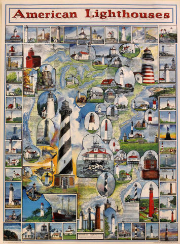 American Lighthouses Poster