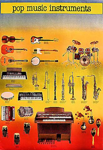 Pop Music Instruments Poster