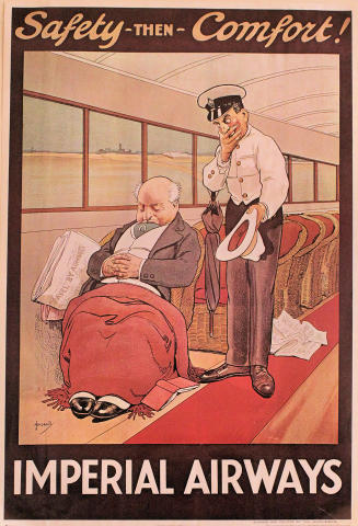 Imperial Airways: Safety - Then - Comfort! Poster