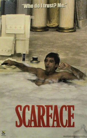 "Scarface: ""Who Do I Trust? Me."" Poster"