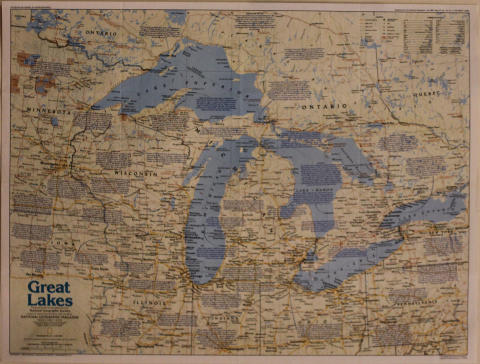 National Geographic: Great Lakes Poster