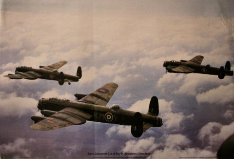 Avro Lancaster B1s of No. 44 Squadron Poster