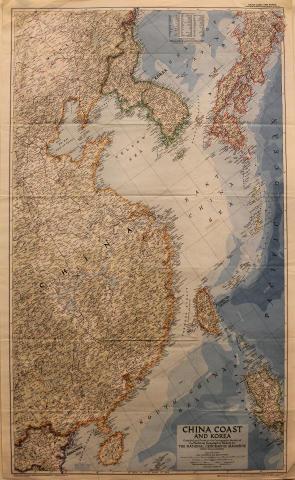 National Geographic: China Coast and Korea Poster