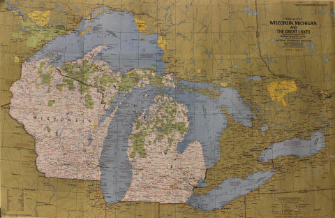 National Geographic: Close Up U.S.A. Wisconsin, Michigan and the Great Lakes Poster