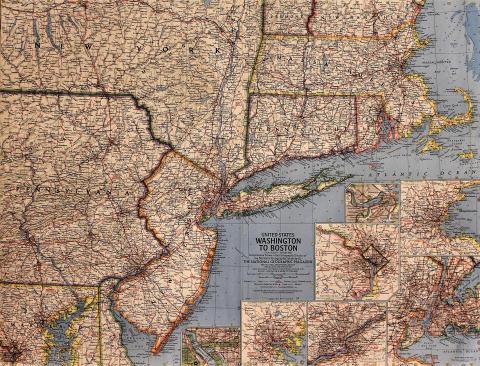 National Geographic: Washington to Boston Poster