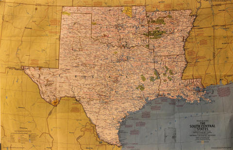 National Geographic: The South Central States Poster