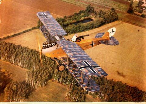 LVG C-VI Reconnaissance Aeroplane Poster