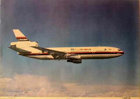Laker Airways DC10 Poster