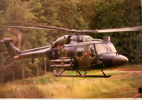 Westland/Aerospatiale Lynx AH1 Poster
