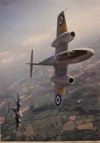 Gloster Meteor T7s WA669 and WF791 Poster