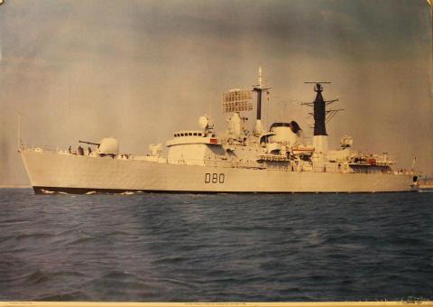 D80 HMS Sheffield Poster