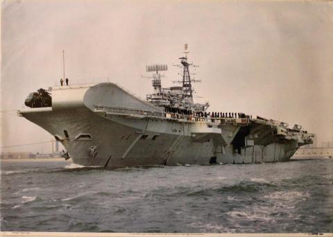 R12 HMS Hermes Poster