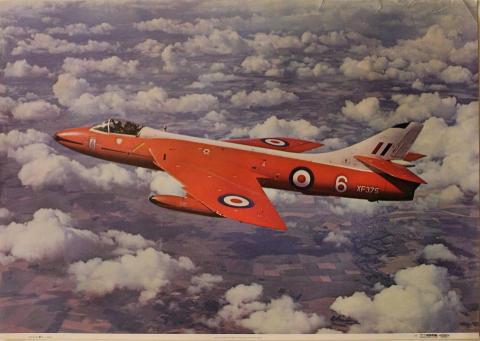 Hawker Hunter F. Mk 6 Poster