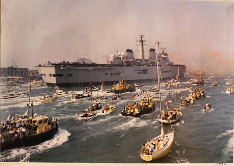 HMS Invincible Returns from the Falklands Poster