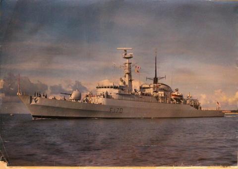 F170 HMS Antelope Poster