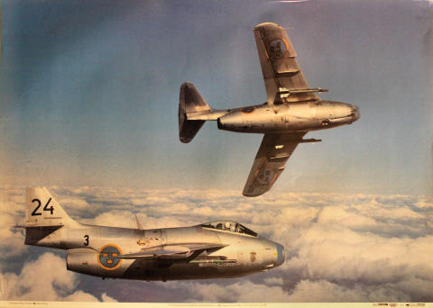 SAAB 29 'The Flying Barrel' Poster