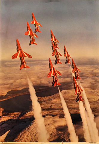 The Red Arrows in Formation Poster