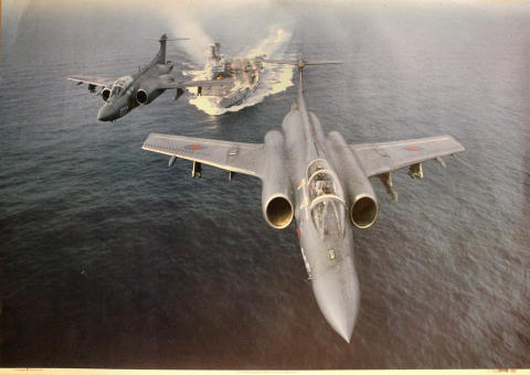 Buccaneers Take Off From HMS Ark Royal Poster