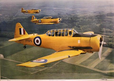 RAF North American AT-16 Harvards Poster
