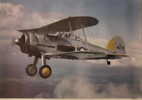 Gloster Gladiator L8032 Poster