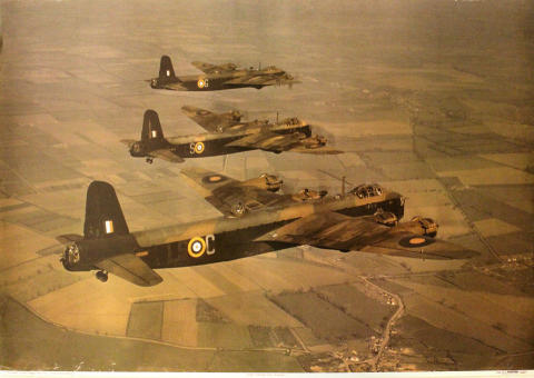 Short Stirlings of No. 15 Squadron Poster
