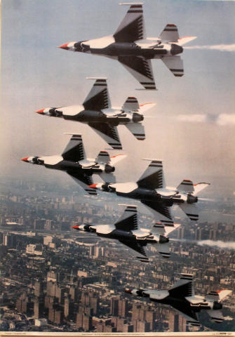 F-16s of the Thunderbirds Poster