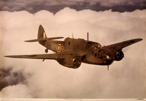 Bristol Beaufort I, L9878 Poster