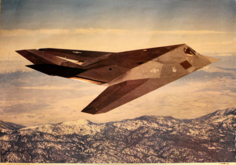Lockheed F-117A Stealth Fighter Poster