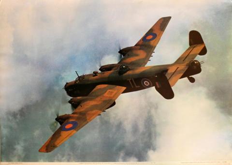 Handley Page Halifax B.II SRS of No. 35 Sqdn, RAF Poster