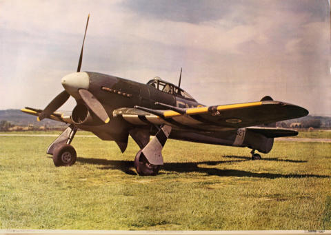 Hawker Typhoon 1B, EJ927 Poster