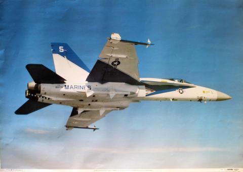 McDonnell Douglas F-18 Hornet Poster