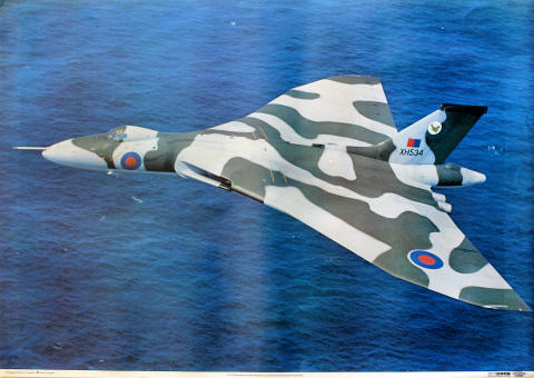 Vulcan bomber from RAF Scampton Poster