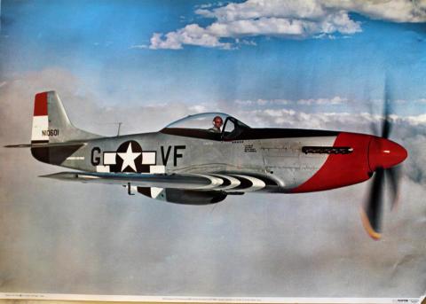 North American P-51D Mustang N10601 Poster