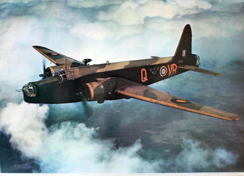 Vickers Armstrong Wellington III, Z1572 Poster