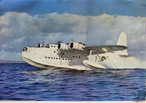 Short Sunderland Mk V ML778 ML-Z of No. 201 Sqdn Poster