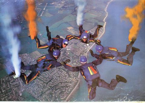 Royal Marines Freefall Team Poster