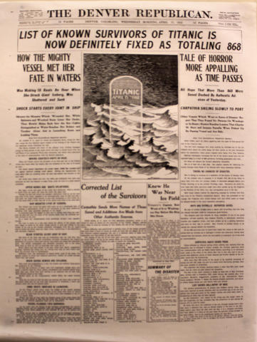 The Denver Republican April 17, 1912 Poster