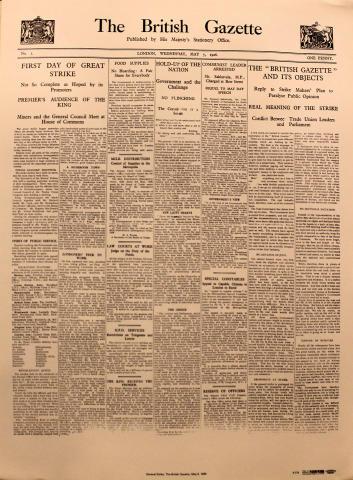 The British Gazette May 5, 1926 Poster