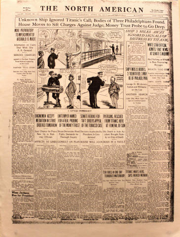The North American April 23, 1912 Poster