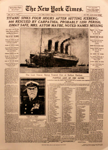 The New York Times April 16, 1912 Poster